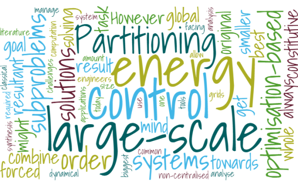 IRP11: Partitioning and optimisation-based non-centralised control of dynamical energy grids