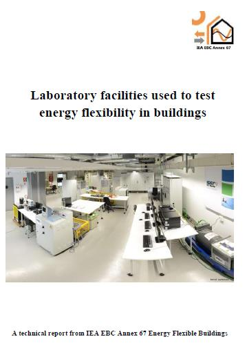 Cover of the IEA EBC Annex 67 Report about test facilities edited by Thibault Péan (INCITE ESR 2.1) and Jaume Salom, IREC.